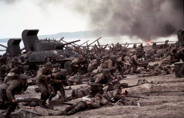 saving private ryan review new york times